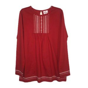 Hanna Andersson Red & White Embroidered Dress 160